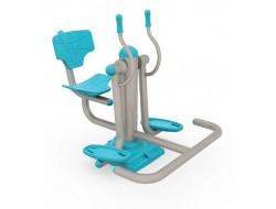 Oturarak ayak çalıştırma spor aleti